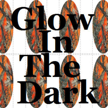 20 pc GLOW In THE DARK Blaze Orange Camo Orange Camouflage Realtree Camo Nail Wraps Full Decals Tips Nail Art Nail Decals #cg506na