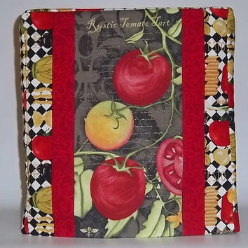 Kitchenaid Mixer Cover, Tomato Mixer Cover, Red and Black Kitchen Decor