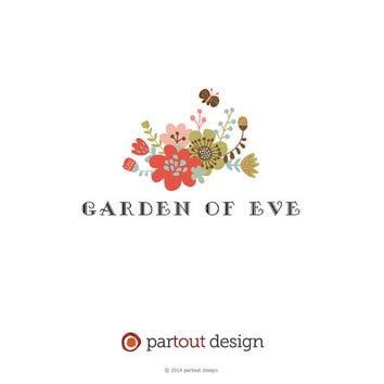 SALE! premade logo design (etsy shop, website logo, blog logo, watermark, signature, business identity & logo design) - floral logo design