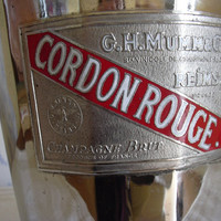 Antique French wine chilling bucket Cordon Rouge Champagne