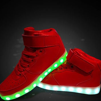 Hightop Red Hoverkicks LED Shoes Unisex