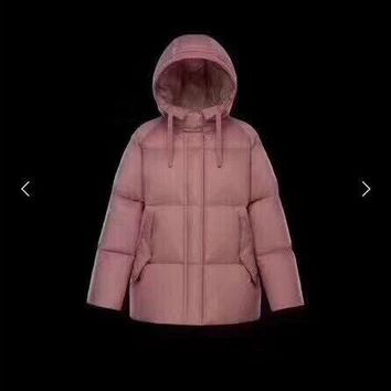 Moncler black Women's Fashion Down Jacket Cardigan Coat new discount
