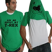 Ask Me About My T-Rex Shirt funny t shirt