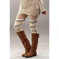 Fair Isle Leggings - Mocha
