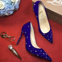 DCCK2 Sale Christian Louboutin CL 100mm Patent Leather High Heels W04-1