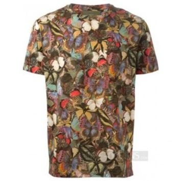Indie Designs Valentino Inspired Butterfly Printed Cotton T-Shirt
