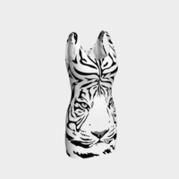 White Tiger Bodycon Dress Bodycon Dress