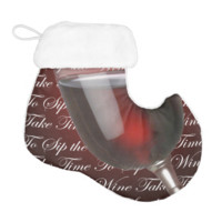 Take Time To Sip The Wine Elf Christmas Stocking