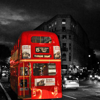 Red Routemaster London Bus Art Print by Dawn OConnor | Society6
