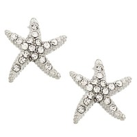 Dancing Silver Starfish Earrings
