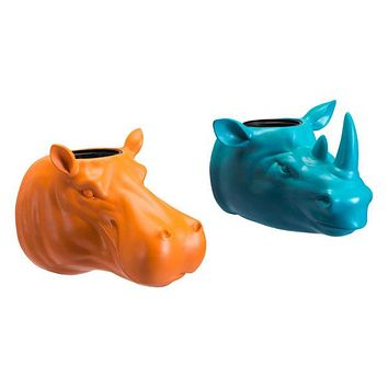A11269 Rhino Planter Blue