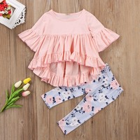 2PCS Cotton Clothing Toddler Girls Outfit