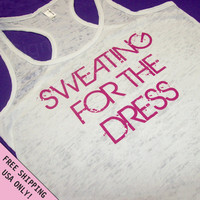 Sweating For The Dress Burnout Tank Razor back Wedding top S - 2XL FREE SHIPPING