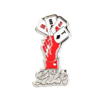 Best Of Luck Playing Cards Lapel Pin