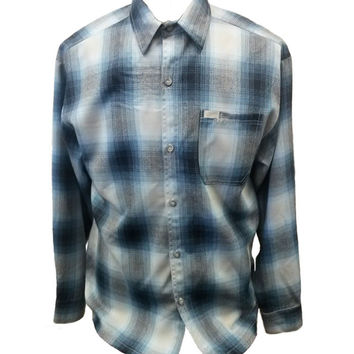 Blue Long Sleeve Flannel Shirt