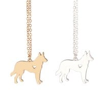 German Shepherd Necklace Gold or Silver