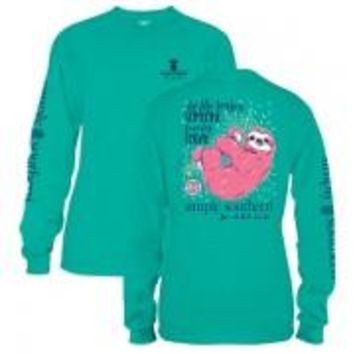 *Closeout* Simply Southern Long Sleeve Tees- Sloth