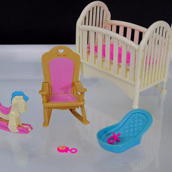 Nursery Furniture 1993 Fisher Price Loving Family Dream Grand Dollhouse Twin Time