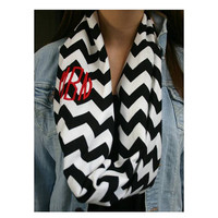 Monogrammed Scarf  Perfect for the cold days by lindaroberts10
