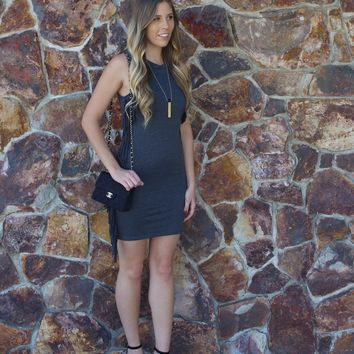 Fringe Gray Dress
