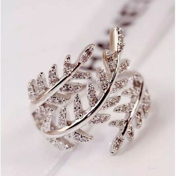 TL Tree Zircon Crystal Crown Your Queen Design Fashion Hollow Stainless Steel Engagement Ring for Women Present Jewelry