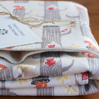 Organic Baby Blanket WOODLAND FRIENDS by organicquiltcompany