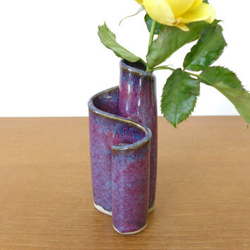 Van Zee purple and blue glazed pottery vase