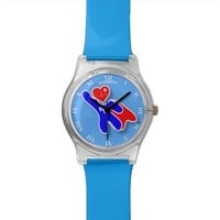 Super Wonder Registered Nurse RN, With Red Heart Wrist Watch