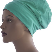 Green Cotton Knit Hat