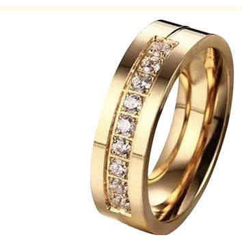 Trendy Lovers Engagement Wedding Band