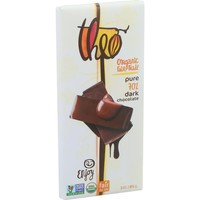 Theo Chocolate Organic 70% Dark Chocolate Bar Unflavored - 3 oz