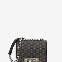 ‎‎‎‎Women‎'s ‎Black ‎ ‎Small Jewelled Satchel ‎ | Alexander McQueen