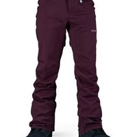 Volcom Species Stretch Snowboard Pants Burgundy - Womens page.year