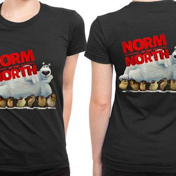 LMF1GW Norm Of The North Bear Sleep 2 Sided Womens T Shirt