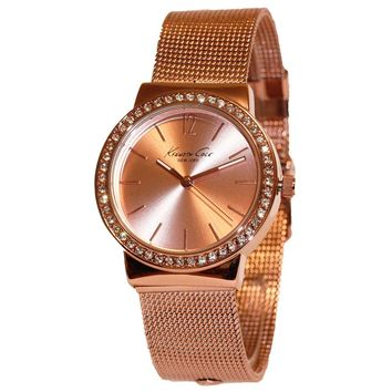 Kenneth Cole KCW4018 Women's New York Rose Gold Dial Rose Gold Steel Mesh Bracelet Watch