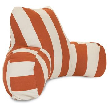Burnt Orange Vertical Stip Reading Pillow