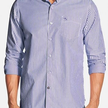 Men's Big & Tall Tommy Bahama 'Paradise Island Stripe' Pima Cotton Sport Shirt,