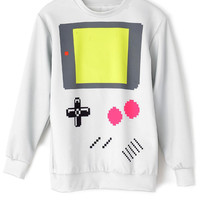 Grey Digital Calculator Print Sweatshirt - OASAP.com