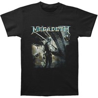 Megadeth Men's  Dystopia Album Mens Regular T T-shirt Black