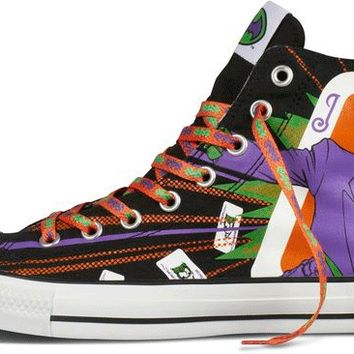 b40059859234 Converse Chuck Taylor All Star Hi Top Dc Comics Batman vs. Joker Black   Purple