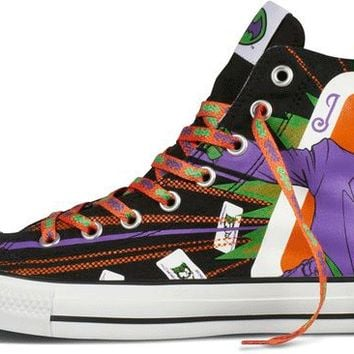 Converse Chuck Taylor All Star Hi Top Dc Comics Batman vs. Joker Black   Purple  837e6478b641