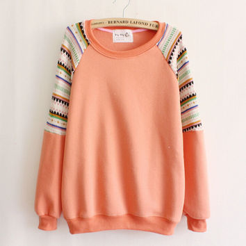 Embroidery fashion knit sweater