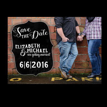 Chalkboard Save The Date / Save the date Chalkboard/ Save the date / Country Save the date / Inviation Suite / Rustic / Chalkboard / 5x7