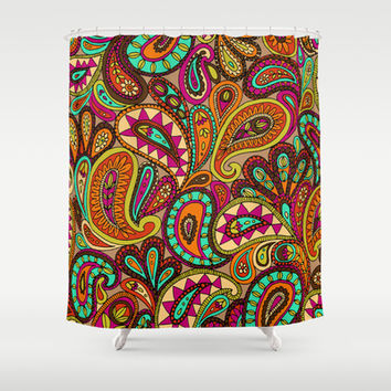 Basic Paisley  Shower Curtain by Aimee St Hill