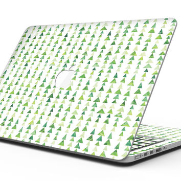 Green Watercolor Triangle Pattern V2 - MacBook Pro with Retina Display Full-Coverage Skin Kit