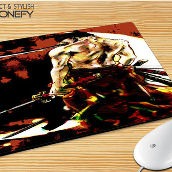 Zoro One Piece Mousepad Mouse Pad|iPhonefy