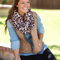 Just Chill'in Vest-Camel