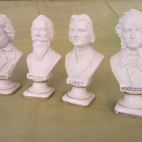 Composer Busts By Andrea Japan White Porcelain Statues Set