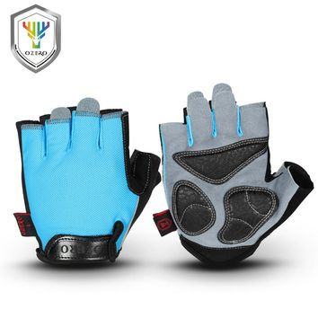 OZERO Training Gloves Half Finger Shockproof Breathable For Cycling Bike MTB Driving Riding Gloves Men Women Sports Gloves 8010