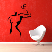 Sport Wall Decals Girl With Dumbbell Gym Wall Decor Fitness Vinyl Sticker Home Decor Vinyl Art Wall Decor Girl Nursery Room Decor KG163